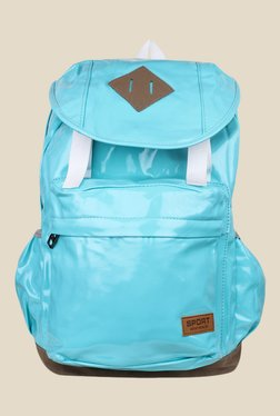 Shoetopia Sky Blue Solid Backpack