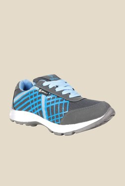 Spiky Grey & Sky Blue Running Shoes