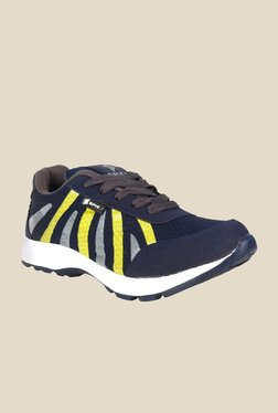 Spiky Yellow & Navy Running Shoes