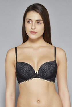 Wunderlove By Westside Black Annika Push Up Bra