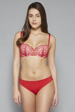 Wunderlove by Westside Red Chloe Balconette Bra
