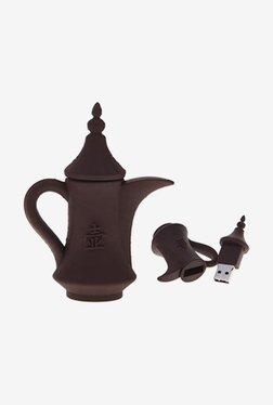 Microware Tea Kettle Shape 16 GB Pen Drive (Brown)