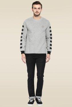 Rigo Grey Full Sleeves Slim Fit Sweatshirt
