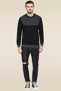 Rigo Black Round Neck Sweatshirt