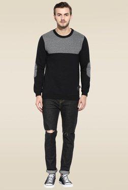 Rigo Black Round Neck Slim Fit Sweatshirt