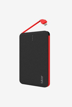 Tukzer 3000mAh Styllo-S Dual USB Power Bank (Black-Red)