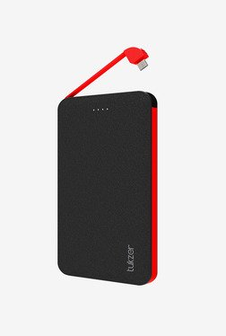 Tukzer 5000mAh Styllo-M Dual USB Power Bank (Black-Red)