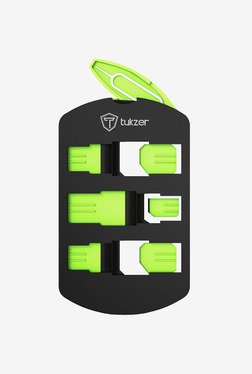 Tukzer Universal Sim Card Holder Kit (Black/Green)