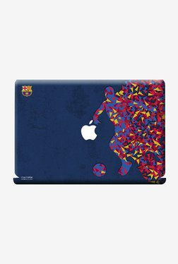 "FCB Asymmetrical Art Laptop Skin For Macbook 13"" White"