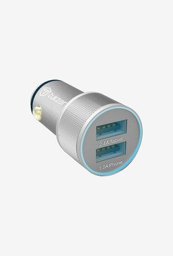 Tukzer 3.4 A Dual USB Universal Car Charger (Silver)