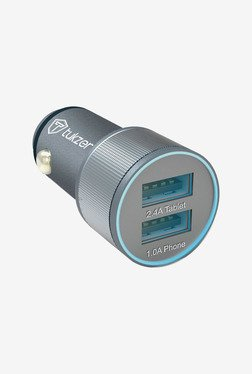 Tukzer 3.4 A Dual USB Universal Car Charger (Space Grey)