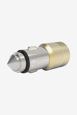 Tukzer 4.8 A Dual USB Universal Car Charger (Gold)