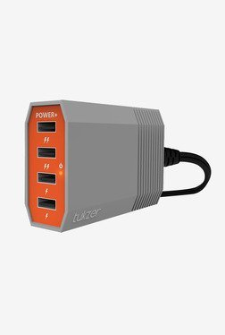 Tukzer 6 A 4 Port USB Desktop Charging Station (Orange/Grey)