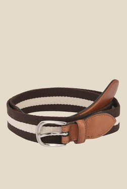 The Bro Code Brown Striped Canvas Belt