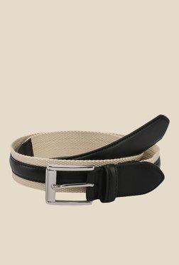 The Bro Code Black Striped Fabric Belt