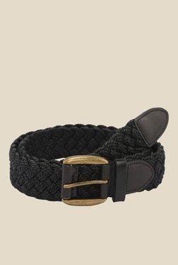 The Bro Code Black Braided Fabric Belt