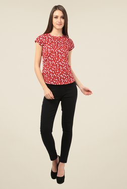 Meee Red Printed Top