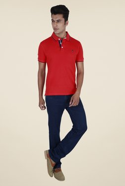 Provogue Red Solid Polo T Shirt