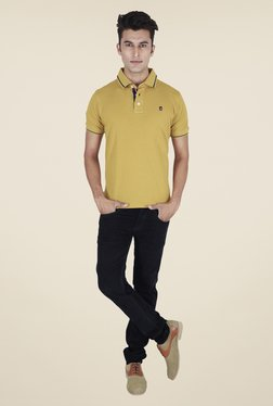 Provogue Mustard Solid Polo T Shirt