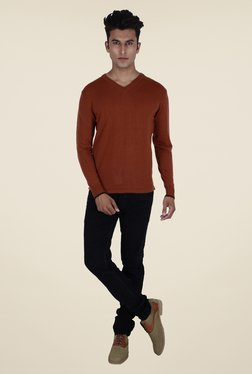 Provogue Rust Solid Sweater
