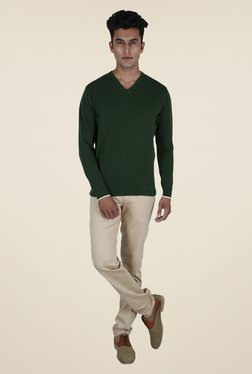 Provogue Olive Solid Sweater