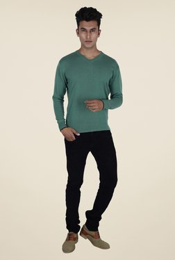 Provogue Teal Solid Sweater