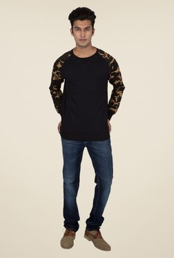 Provogue Black Solid Sweater