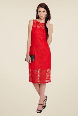 Meee Red Lace Dress - Mp000000000859371