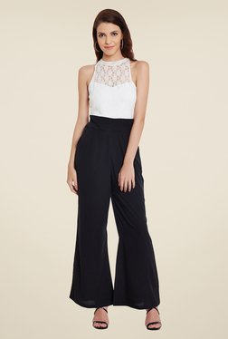 Meee Black and White Lace Jumpsuit