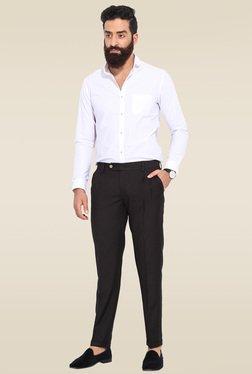Mr. Button Black Slim Fit Trouser