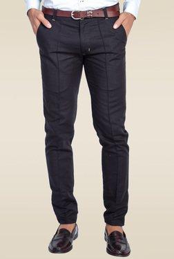 Mr. Button Black Low Rise Slim Fit Trouser