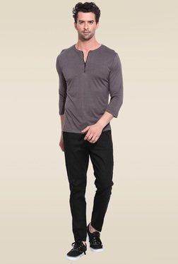 Mr. Button Black Slim Fit Linen Trouser
