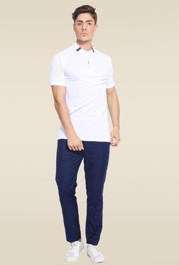 Mr. Button White Slim Fit T-Shirt