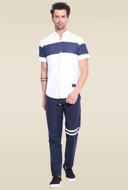Mr. Button White Button Down Collar Shirt