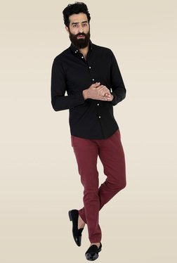 Mr. Button Black Button Down Slim Fit Shirt