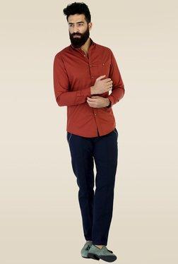 Mr. Button Orange Slim Fit Shirt
