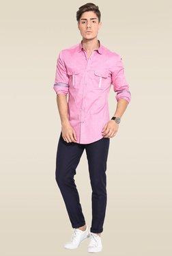 Mr. Button Pink Slim Fit Cotton Shirt