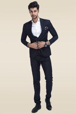 Mr. Button Black Slim Fit Blazer