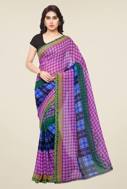 Triveni Purple Printed Art Silk Saree - Mp000000000863951