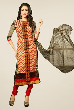 Ethnic Basket Multicolor Semi Stitched Dress Material