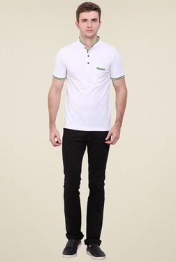Duke White Mock Collar T-Shirt