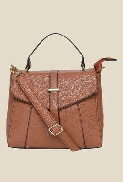 Addons Brown Solid Satchel Bag