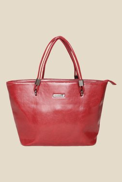 Addons Red Solid Tote Bag