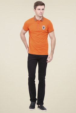 Duke Orange Shirt Collar T-Shirt