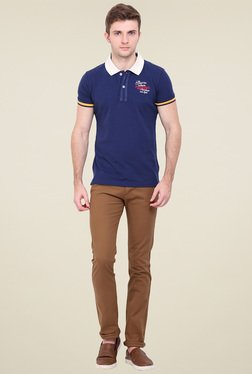 Duke Brown Cotton Chinos