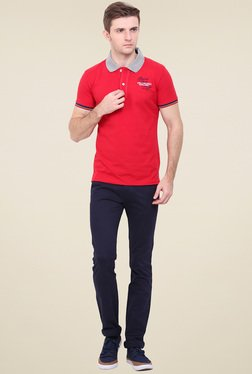 Duke Red Shirt Collar T-Shirt