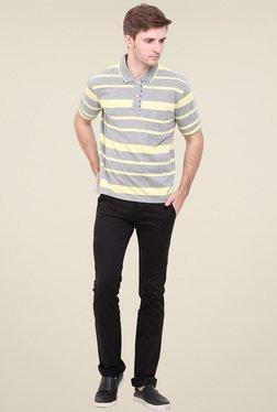 Duke Light Grey Striped Regular Fit T-Shirt
