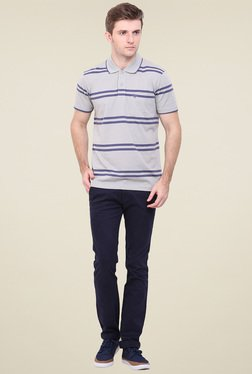 Duke Grey Shirt Collar T-Shirt