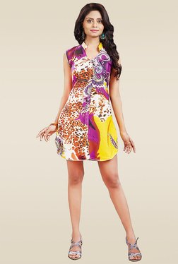 Ethnic Basket Multicolor Sleeveless Printed Kurti