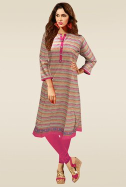 Ethnic Basket Multicolor Henley Cotton Kurti
